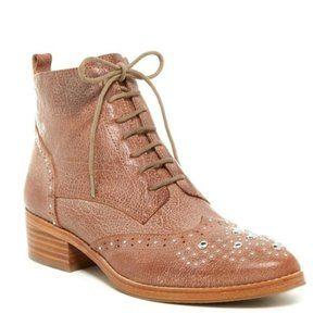Donald J. Pliner Nickki Leather Tan Ankle Boots 9M